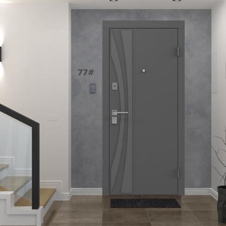 Купить Входные двери BAS-001 Rodos Basic S тёмно-серый