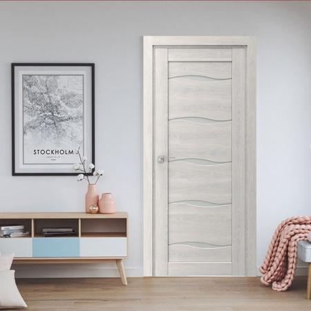 Купить межкомнатные двери VP-01 дуб белоснежный  Дверной Бум