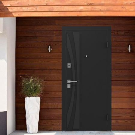 Купить Входные двери BAS-001 Rodos Basic S чёрный графит