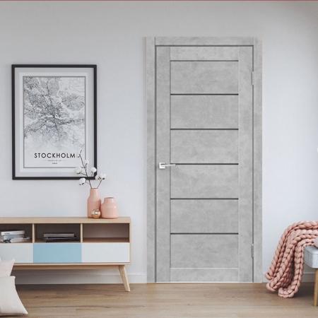 Купить межкомнатные двери VS-08 бетон светлый  Дверной Бум