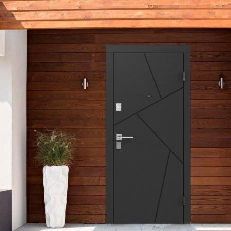 Купить Входные двери BAS-002 Rodos Basic S чёрный графит