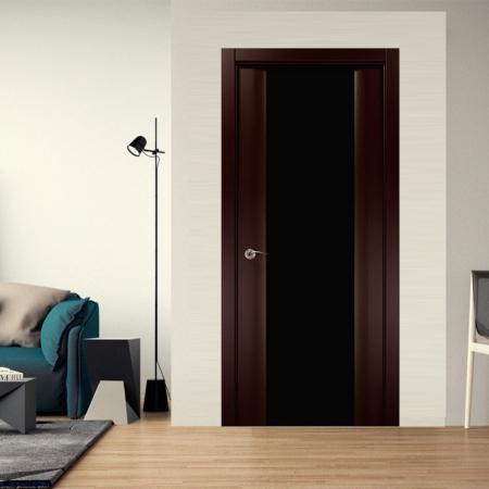 Купить межкомнатные двери COSMOPOLITAN CP-22 триплекс черный Папа Карло