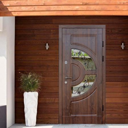 Купить входные двери Трио-Греция со стеклом Термопласт
