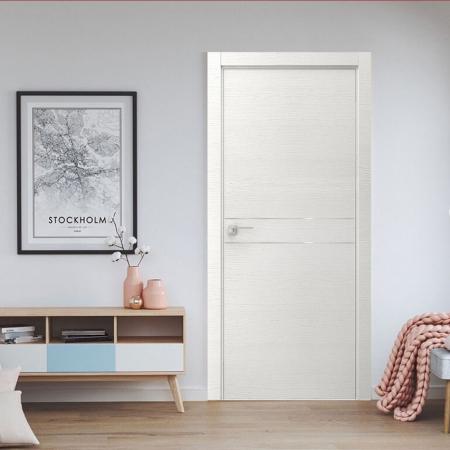 Купить межкомнатные двери VE-13 дуб серый+молдинг серый  Дверной Бум