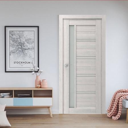 Купить межкомнатные двери VP-19 дуб белоснежный  Дверной Бум