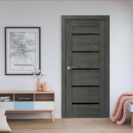 Купить межкомнатные двери VP-11 дуб графит  Дверной Бум