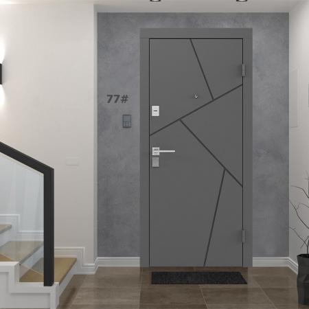 Купить Входные двери BAS-002 Rodos Basic S тёмно-серый