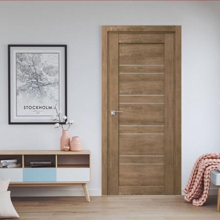 Купить межкомнатные двери VP-15 дуб натуральный  Дверной Бум