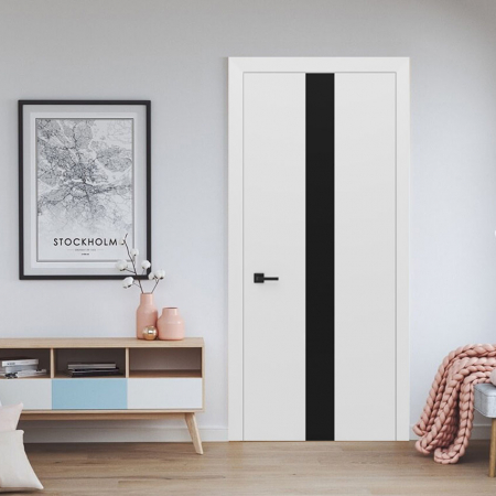 Купить межкомнатные двери Ultra Glass 3 Black Status doors